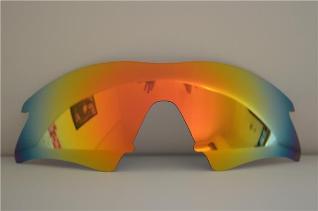71ebd8bd2be NEW POLARIZED FIRE RED CUSTOM SWEEP LENS FOR OAKLEY M-FRAME SUNGLASSES